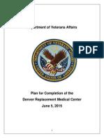 VA Completion Plan June 5, 2015