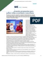 Capriles Presenta Propuestas Para Paliar Crisis Económica Venezolana
