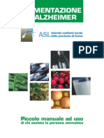 Alimentazione e Alzheimer Opuscolo