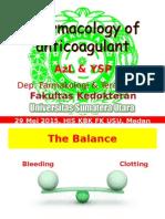 20150529-His-Pharmacology of Anticoagulant FINAL
