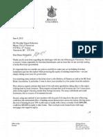 Premier Christy Clark's reply to Vancouver Mayor Gregor Robertson
