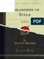 Philosophy of Style