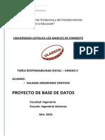 Responsabilidad Social - Proyecto Base de Datos