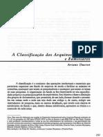 A Classificação dos Arquivos Pessoais e Familiares
