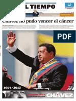 El Tiempo 07-03-2013 Chavez