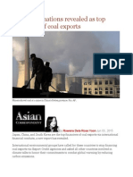 East Asian Nations Revealed as Top Financiers of Coal Exports