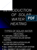 Introduction of Solar Water Heating