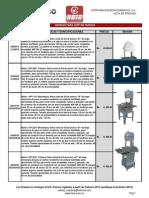 Corp. Boia Domenico Lista de Precios Febrero 2013