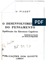 Piaget - O desenvolvimento do pensamento - Capa + indice