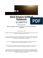 empire slowpitch rulebook