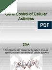 Gene Control of Cellular Activities
