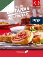 Chef Oropeza - Recetario Botanas Para Disfrutar