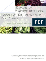 assessing demand of culturally appropriate local foods