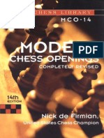 Modern Chess Openings 14th Edition
