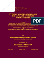 EFFECT OF ACOUSTIC VIBRATION ON THE SATELLITE STRUCTURE AT LAUNCH STAGE