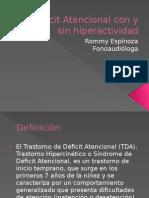 Déficit Atencional Con y Sin Hiperactividad