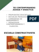 Corrientes Contemporaneas de Pedagogia y Didactica Escuelas