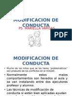 MIDIFICACIÓN DE CONDUCTA