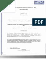 Resolucion No. 105 Del 05 de Junio de 2015
