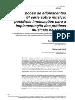 SEBBEN, E. E. Concepções de Adolescentes de 8ª Série Sobre Música