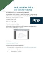 Cómo Convertir Un PDF en SHP (o Cualquier Otro Formato Vectorial)
