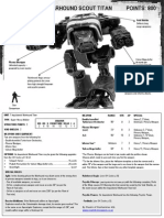 Inquisitorial Warhound Titan Datasheet