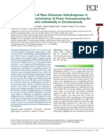 Resolving the Role of Plant Glutamate Dehydrogenase