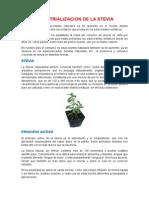 Industrializacion de La Stevia