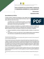 CONSTRUCCIÓN DE UN CONCEPTO EVALUATIVO SOBRE LA POLÍTICA DE INFANCIA Y ADOLESCENCIA DE BOGOTA D.C., periodo 2004-2010. Ficha Resumen