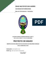 PROYECTO DETERMINACION DE ZONAS DE EVACUACION  EN SECTORES PROPENSOS A DESLIZAMIENTOS EN LA CIUDAD DE LA PAZ