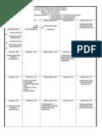 Cronograma Evaluaciones Junio