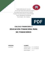 Ensayo Educacion Financiera Para No Financieros