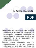 3) Reporte Técnico