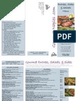 Gourmet Catering Menu Entree, Salad, Side