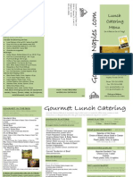 Gourmet Catering Menu Lunch Catering PDF