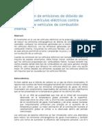 Comparación de Emisiones de Dióxido de Vehículos Eléctricos Contra Emisiones de Vehículos de Combustión Interna