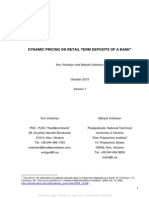 Dynamic Pricing on Retail Term Deposits of a Bank