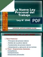 NUEVA LEY PROCESAL DEL TRABAJO