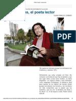 Rubén Vargas, El poeta lector