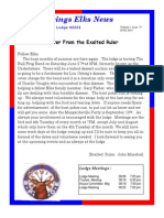 Sand Springs Elks June 2015 Newsletter