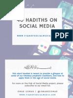 40 Hadiths on Social Media