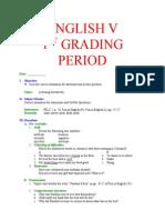 English v- 1st -4th Grading Period