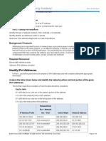 8.1.4.8 Lab - Identifying IPv4 Addresses-1