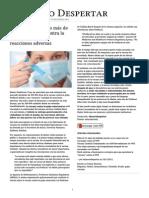 Retiran Del Mercado Más de 300.000 Vacunas Contra La Gripe Por Graves Reacciones Adversas