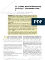 Does Intraoperative Ketamine Attenuate Inflammatory Reactivity Following Surgery