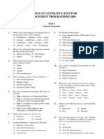 Openmat (Xv) Entrance Test for Management Programmes