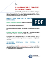 Multa Por No Realizar El Depósito de Detracciones 2015