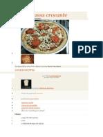 Receita de Pizza Massa Crocante