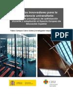 Espacios innovadores para la excelencia universitaria