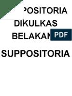 SUPPOSITORIA